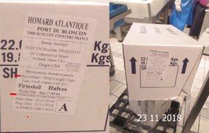 Carton de homards chez Auchan - Droits réservés